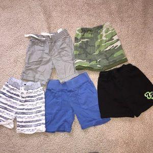 5 Pair Lot Boys Shorts Size 3T